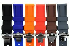22MM - 24MM RUBBER DIVER STRAP BAND DEPLOYMENT CLASP BUCKLE FOR PANERAI #2