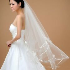 Hot Sales Cheap White Ivory Bridal Wedding Veils Without Comb Wedding Accessory