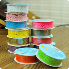 Lace Roll DIY Washi Paper Decorative Sticky Paper Masking Tape Self Adhesive TOP