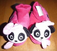 Girls toddler Koala Kids PANDA BEAR Plush Slippers Size 5/6 7/8 9/10 Hot Pink