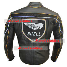 Men Buell Motorcycle Leather Jacket / America Buell Motorcycle Leather Jacket