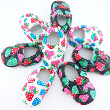Hot Cute Strawberry Baby Boy Girl Toddler Soft Infant Moccasins Kids Shoes 0-36M