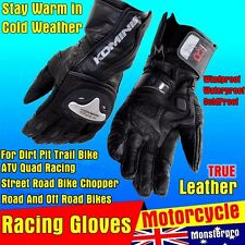 Winter Coldproof Motorcycle Motorbike Motocross leather Bike Racing Gloves L XL