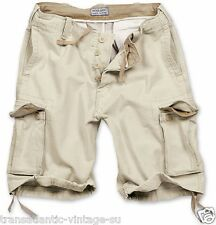 SURPLUS VINTAGE CARGO SHORTS MENS ARMY STYLE COMBAT WASHED COTTON BEIGE