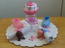 Baby Topper & Washcloth Set Centerpiece Baby Shower Favors Gift Boy Girls Unisex