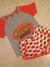 HERSHEY'S REESE'S PEANUT CUP PRINT Ladies Pyjamas Shorts Sets (Sizes XS-L)