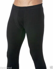 Mens Pure Merino Wool Thermal Base Layers Underwear Long John Black Pant