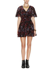 NWT FREE PEOPLE Perfect Dream Floral Dress in Berry $148 - Sz 2,8