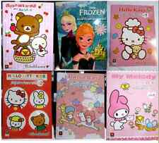 PAINTING COLORING BOOK&STICKER SANRIO & DISNEY16 pages+2stickers /CHILDREN KIDS