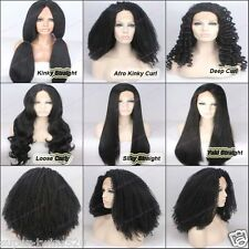 Black Hair Color Lace Front Wigs for Women Long Wig Synthetic Hair Hairnet Free