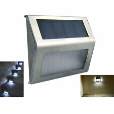 LED Solar Power Stair Outdoor Path Light Garden Yard Fence Wall Landscape Lamp