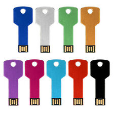 New 32G 64G Metal Key USB 2.0 Flash Memory Storage Thumb Stick Pen Drive