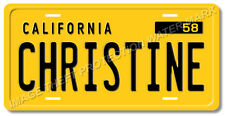 CHRISTINE Plymouth Fury Aluminum License Plate Tag Stephen King Christine