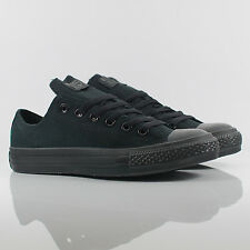 Converse All Star Ox Low Chuck Taylor Black Monochrome Trainers