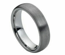 6mm Men's or Ladies Tungsten carbide Domed Brushed Finish wedding band ring