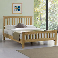 Oak Bed Frame Solid Real Genuine Wooden Double King Size Farmhouse Shaker Style