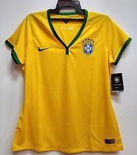 BNWT BRAZIL WOMENS HOME WORLD CUP KIT FOOTBALL SOCCER JERSEY TRIKOT 2014