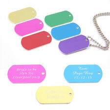 Personalised Metal Military Army Dog Tags ID Tag & Necklace, Engraved Gift, 8 Co