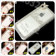 New 3D Shine luxury Bling Transparent Clear Crystal Hard Back Case Cover skin #1