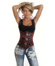 Sexy Steampunk Costume Lace-Up Bustier Bodice Underbust Corset Vest Top New