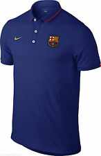 607638-424 New with tag Nike Men FCB Soccer/Futbol Barcelona POLO shirt NAVY