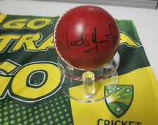 Nathan Hauritz (Australia) signed Red Cricket Ball + COA + Photo proof signing