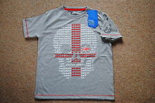 JOYSTICK JUNKIES ENGLAND SKULL YOUTH CHILD T SHIRT BNWT OFFICIAL FOOTBALL RUGBY