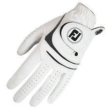 FOOTJOY MENS WEATHERSOF GLOVES LEFT HAND - WHITE ALL WEATHER LEATHER GLOVE