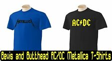 Beavis and Butthead T-Shirt All sizes available AC/DC AC DC Metallica