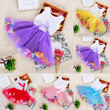 Flower Baby Girl Princess Dress Kids Toddler Party Pageant Tutu Dresses Age 0-4T