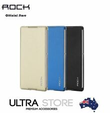 Genuine Rock Delight Slim Leather Smart Flip Case Cover for Sony Xperia Z3+/ Z4