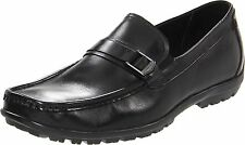 Florsheim Men's 13160 Nowles Buckle Black Leather Slip-On Loafer