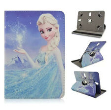 """360 Rotary Frozen Cartoon Elsa PU leather tablet case cover FR 7"""" inch Tablet PC"""