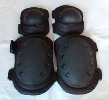 New Outdoor Adjustable Airsoft Tactical Combat Protective Knee Pads + Elbow Pads