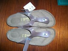 BIRKENSTOCK - GIZEH - PEARLY HAZEL VARNISH RRP $127 SAVE $27