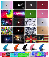 "Rubberized Hard Case+Keyboard Cover for 2015 Macbook 12""Pro 13""15"" Air 11"" 13"""