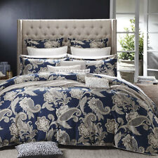 Private Collection ALEXANDRA NAVY Doona Quilt Cover Set Queen King Super King