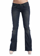 Stitch's Ankle Length Womens Blue Pants Boot Cut Jeans Legging Jegging Low Rise