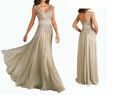 Elegant V Neck Lace Mother of The Bride/Groom Dresses Special Occasion Gowns 6 8