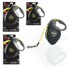 Flexi Giant Black Neon Retractable Tape Leash Dog Pup Lead 8m 10m Professional