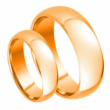 His & Her's 7MM/5MM Tungsten Carbide Rose Gold Plated Dome Wedding Band Ring set