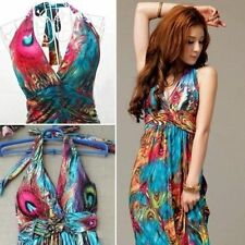 Maxi Evening Party Dress Womens Summer Sexy V-Neck Boho Style Halter Beach Dress