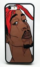 NEW TUPAC SHAKUR 2PAC RAP BLACK PHONE CASE COVER FOR IPHONE 6 6 PLUS 5C 5 5S 4 S