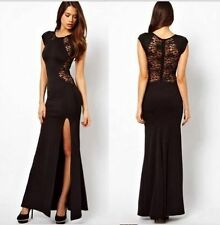 Sexy Women Lace Formal Prom Party Evening Elegant Bodycon Gown Long Split Dress