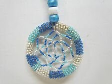 NATIVE AMERICAN BEADED DREAMCATCHER NECKLACE 15 1/2 INCHES LONG