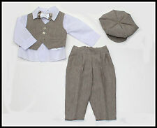 Baby Boy Christening Baptism Pageboy Formal Party Smart Suit 5 Pcs Outfit 0-18m