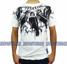 Affliction Crows A11904 Men`s New White 10th Anniversary Collection T-shirt
