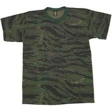 Tiger Stripe Camouflage Short Sleeve T-Shirt - USA Made, Very Comfortable Tee