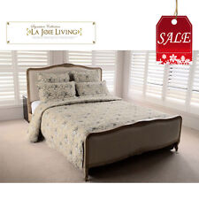 French Provincial Bedroom Furniture Queen/ King Classic Bed Frame Natural Oak