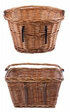 Honey Bike/Bicycle Wicker Shopping Basket with Carry Handle Fit the Handlebars